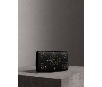 Brieftasche im Kontinentalformat aus Leder mit Ziernieten