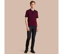 Poloshirt aus Baumwolle mit Breton-Streifen