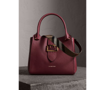 The Medium Buckle Tote aus genarbtem Leder