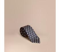 Modern geschnittene Krawatte aus Seidenjacquard mit Punktmuster