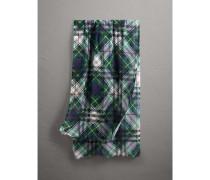 Schal aus Wolle und Seide mit Schotten- und Karomuster