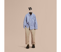 Gestreiftes Hemd aus Stretchbaumwolle