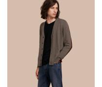 Cardigan aus Kaschmir und Baumwolle im Colour-Blocking-Design