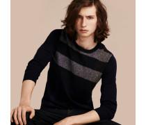 Pullover aus Kaschmir und Baumwolle mit grafischem Check-Muster