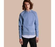 Sweatshirt aus einer Baumwollmischung mit Ziernieten