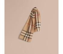 Schal aus Wolle und Seide mit Exploded Check-Muster
