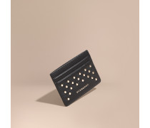 Kartenetui aus Leder mit Ziernieten