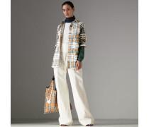 Rollkragenpullover aus Seide und Kaschmir im Colour-Blocking-Design