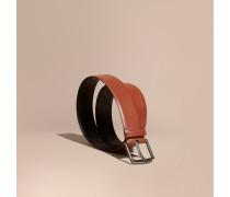 Gürtel aus London-Leder mit Karodetail