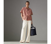 Kurzärmelige Bluse aus Baumwolle mit Karomuster