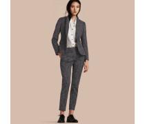 Skinny-Hose aus einer Jacquard-gewebten Baumwollmischung