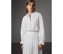 Bluse aus Baumwolle mit Rüschen- und Biesendetails