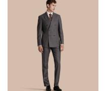 Modern geschnittene Travel Tailoring-Hose aus gebürsteter Wolle