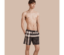 Schwimmshorts Mit Check-muster
