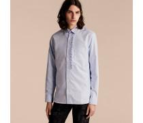 Oxford-Hemd aus Baumwolle mit Rüschendetail
