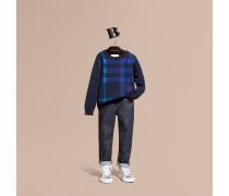 Pullover Aus Wolle Und Kaschmir Mit Check-muster