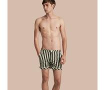 Schwimmshorts mit Pyjamastreifenmuster