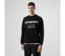 Baumwollsweatshirt mit Horseferry-Aufdruck