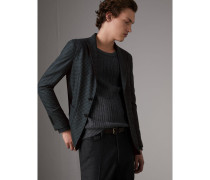 Jackett in Soho-Passform aus Wollflanell mit Micro Check-Muster