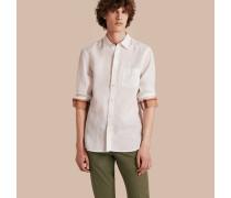 Hemd aus Leinen mit Karodetail