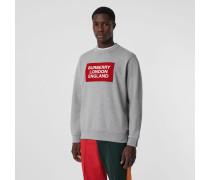 Baumwollsweatshirt mit Logo-Applikation
