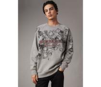 Sweatshirt aus Jersey mit Doodle-Motiv