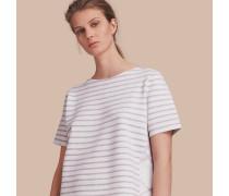 T-Shirt aus einer Wollmischung mit Karo- und Streifenmuster