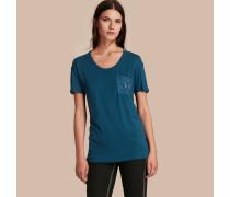 T-Shirt mit Pythonmuster