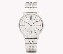 Cooper Edelstahl-Armbanduhr