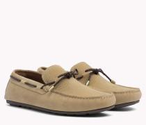Wildleder-Loafer mit Schnürung