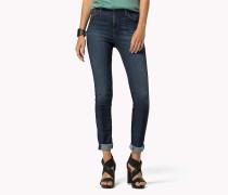 Skinny Fit Jeans mit hohem Bund