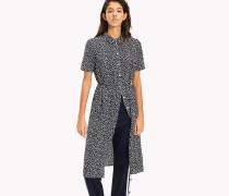 Hemdkleid aus Polyester-Twill