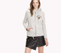 Zip-Kapuzenjacke aus Fleece