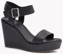 Sandalen Aus Leder Mit Keilabsatz