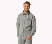 Sweatshirt Aus Baumwoll-mix Mit Durchgehendem Reißverschluss