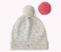 Mütze Mit Pompondetail