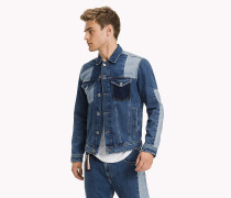 Patchwork-Denimjacke