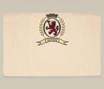 Wappen-Schal aus Woll-Kaschmirmix