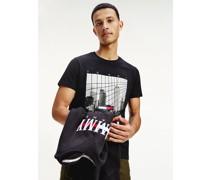 Slim Fit T-Shirt mit New York-Print