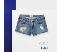 Gigi Hadid Denim-Shorts