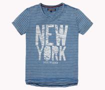Rundhals-t-shirt Aus Baumwolle