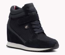 Wedge-Sneakers im Wildledermix
