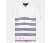 Kurzarm-Hemd mit Breton-Streifen