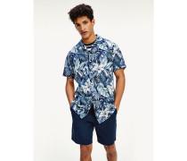 Kurzarm-Hemd mit Hawaii-Print