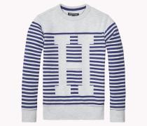 Klassisches Sweatshirt Mit Streifen