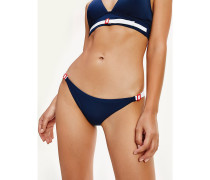 Klassische Bikinihose mit Kontrast-Schnalle