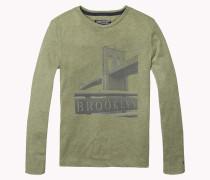Hilfiger - Rundhals-t-shirt Aus Baumwoll-mix