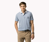 Zweifarbiges Slim Fit Poloshirt