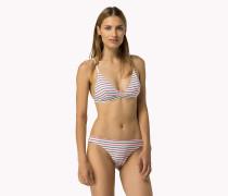 Mehrfarbig gestreifter Bikini