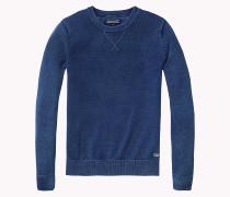Rundhals-pullover Aus Baumwolle
